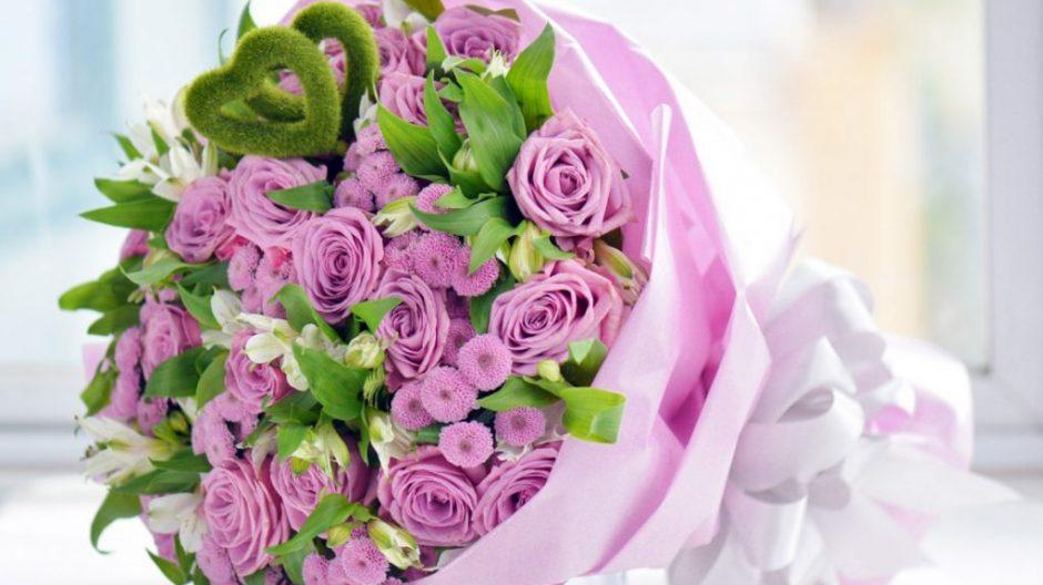 bó hoa sinh nhật tím đẹp