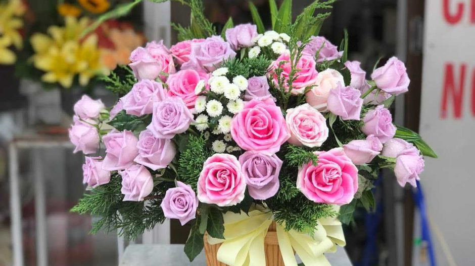 hoa sinh nhật lẵng đẹp
