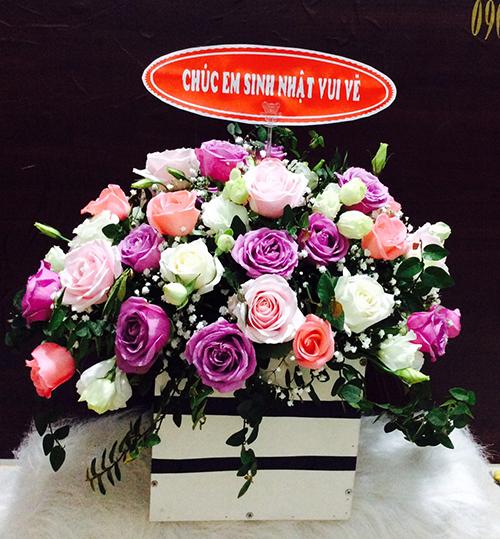 Lẵng hoa hồng sinh nhật